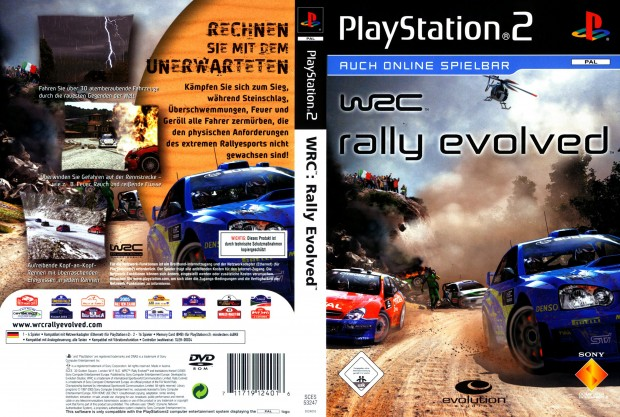 WRC Rally Evolved GERMAN PAL COVER