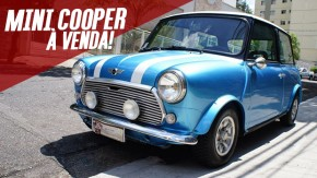 Este Mini Cooper clássico bastante íntegro e cheio de potencial está à venda no Brasil