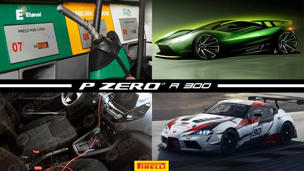 Entidades negam aumento de álcool na gasolina, Ford Ka flagrado com câmbio automático e novo interior, Aston Martin prepara mais um hipercarro e mais!