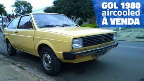 Um VW Gol 1980 arrefecido a ar, todo original e à venda por um preço bacana