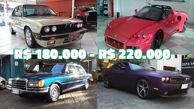 Os carros mais de R$ 180.000 a R$ 220.000 mais legais anunciados no GT40