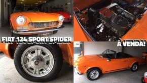 Fiat 124 Sport Spider à venda: um clássico italiano a céu aberto na sua garagem