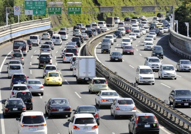Traffic jam in Tokyo