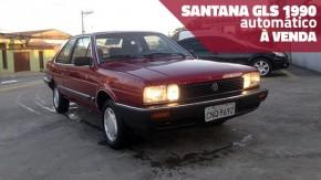 Este Volkswagen Santana 1990 com câmbio automático e bastante original está à venda
