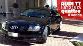 Este raro Audi TT com motor 1.8 turbo de 225 cv e câmbio manual está à venda!