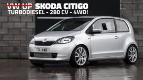 """Citigo-Go: um """"Volkswagen Up"""" com motor 2.0 turbodiesel de 280 cv e tração 4Motion"""