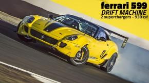 Ouça o ronco absurdo do V12 com dois superchargers desta Ferrari 599 de drift