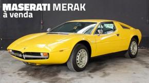 Maserati Merak 1974 à venda: um esportivo italiano clássico que fica bem em qualquer coleção