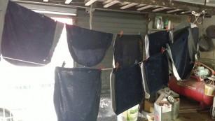 082 - Capas sendo lavadas
