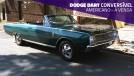 Este Dodge Dart conversível com motor seis-cilindros veio direto dos EUA e está à venda
