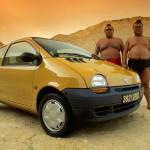 Extra 004 - Renault Twingo 1992 - Essas são as rodas originais, e esses são os ludadores de Sumo...