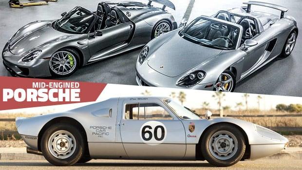 A história dos Porsche de motor central-traseiro