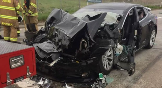 Tesla-Model-S-Utah-Autopilot-Crash-