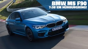 BMW M5 vira 7:38,9 e se torna um dos sedãs mais rápidos do mundo em Nürburgring Nordschleife