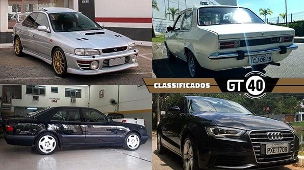 Um Subaru Impreza GT turbo original, um Chevette com interior Chateau, um Gol GL 1.8 muito inteiro e mais no GT40