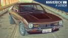 Este bonito Ford Maverick Super Luxo marrom com motor V8 está à venda