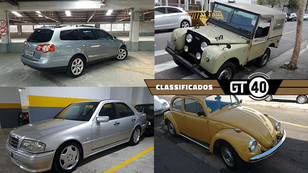 Um Passat Variant com motor turbo de 200 cv, um Land Rover Series 1 todo original, um C36 AMG W202 e mais no GT40