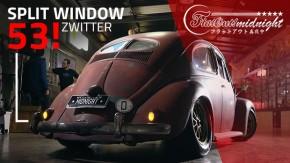 Rat look espontâneo: este Fusca split window 1953 Zwitter carrega a pátina de décadas a fio