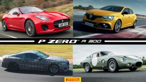 Jaguar F-Type2.0 turbo chega ao Brasil, Renault Megane RS Trophy ganha 300 cv, BMW M8 em ação e mais!