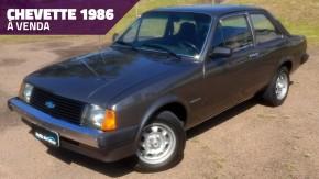Este Chevette 1986 de segundo dono está muito novo e original – e está à venda