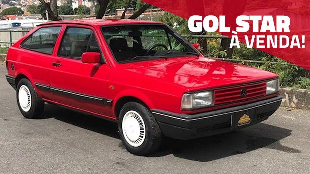 Este Gol Star 1989 é raro, bem cuidado e original – e está à venda