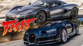 Croácia vs. França: Rimac C_Two ou Bugatti Chiron? Você decide!