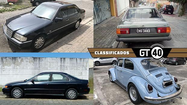 Um Mercedes W202 de seis cilindros, um Voyage placa preta, um Honda Accord dos anos 90 e mais no GT40