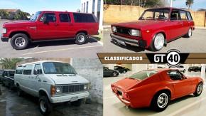 """Uma Veraneio Custom turbodiesel """"zerada"""", um Lada Laika SW restaurado, uma rara Dodge Ram Van V8 e mais no GT40"""