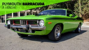 Sublime Green: este Plymouth Barracuda 1973 está à venda no Brasil!