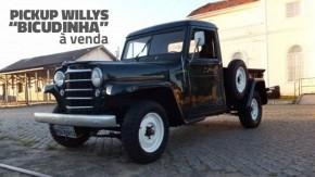 """Esta rara pick-up Willys """"Bicudinha"""",sob medida para ser restaurada, está à venda"""