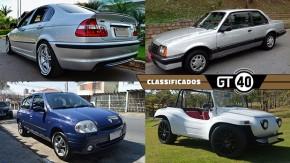 Um BMW 330i Motorsport com 59.000 km, um Monza automático conservadíssimo, um raro Renault Clio Tech Run e mais no GT40