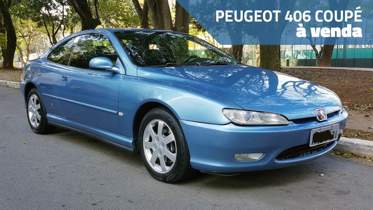 Este Peugeot 406 Coupé com motor V6 e câmbio manual está à venda