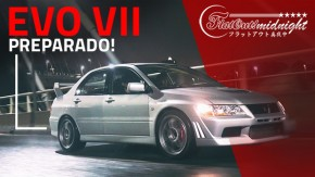 Lancer Evolution 7 preparado para track days acelera na noite de SP | FlatOut Midnight