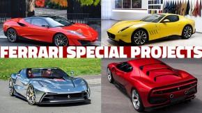 Estas são todas as Ferrari Special Project feitas até hoje