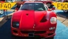 Ferrari F40 e F50 em Araxá: dissecamos os detalhes da dupla mais exclusiva do Brasil