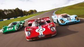 Ferrari 512S, Porsche 917 e Lola T70: Dario Franchitti acelera três lendas do WSC em Donington Park!