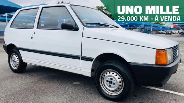 Este Fiat Uno Mille 1994 de segundo dono e com apenas 29.000 km rodados está à venda!