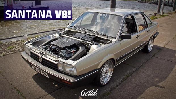 Sim, isto é mesmo um VW Santana com motor V8 Audi e tração 4×4!
