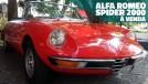 Que tal um belo conversível italiano de tração traseira? Este Alfa Romeo Spider 2000 1972 está à venda!