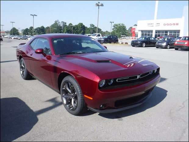 dodge challenger red