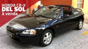 À venda: um Honda CR-X del Sol com motor B16 de 160 cv e 70.000 km rodados