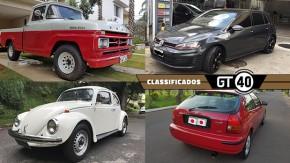 Uma Ford F-100 com motor V8 Mopar (!), um Fusquinha 77 todo original, um Golf GTI de 290 cv e mais no GT40