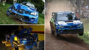 Rali da Alemanha, 2006: como a equipe da Subaru reconstruiu o carro de Petter Solberg em 14 horas depois de um acidente
