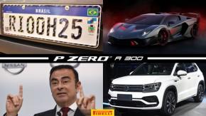 Placa do Mercosul pode ser revogada em 2019, presidente da Renault-Nissan preso no Japão, o novo Lamborghini SC18 e mais!