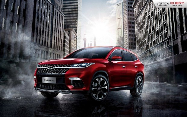 45 angle front Chery Exeed TX Hybrid 2018