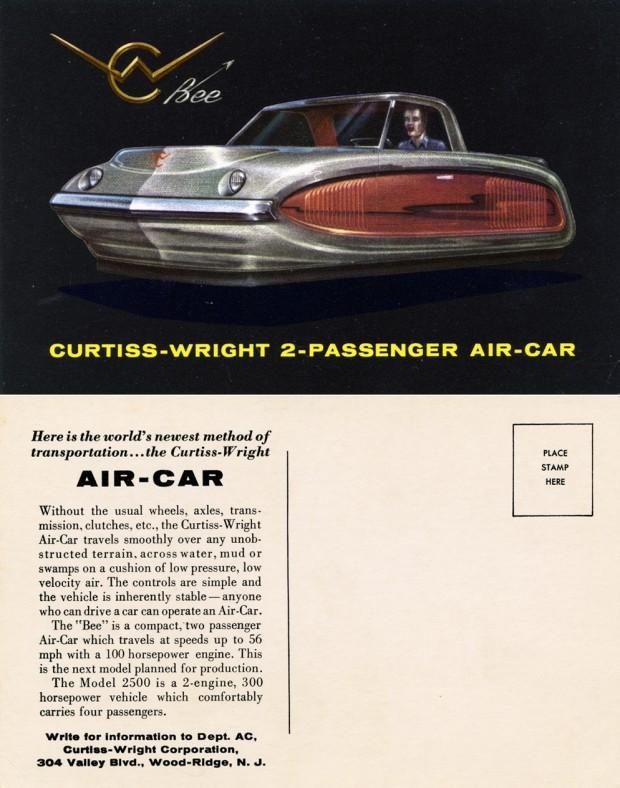 Curtiss-Wright_Air-Car_2-Passenger_Bee_1959_Postcard