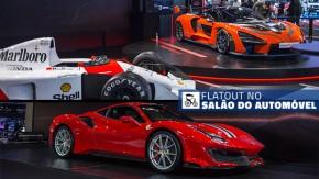 Ferrari 488 Pista, McLaren Senna e Lamborghini Huracán Performante e os supercarros do salão do automóvel