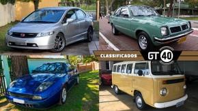 Um Honda Civic Si com peças Mugen, um Chevette 1982 com 34.000 km rodados, um belo cupê italiano e mais no GT40