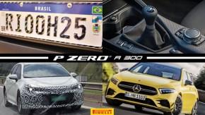 Placas do Mercosul ganham novo prazo, novo BMW M4 será a última geração com câmbio manual, Toyota Auris volta a ser flagrado no Brasil e mais!