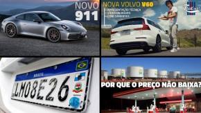 O novo Porsche 992, os preços dos combustíveis, a avaliação da perua Volvo V60 e as novidades da semana no FlatOut!